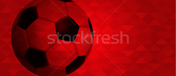 Soccer web banner of special sport event Stock photo © cienpies
