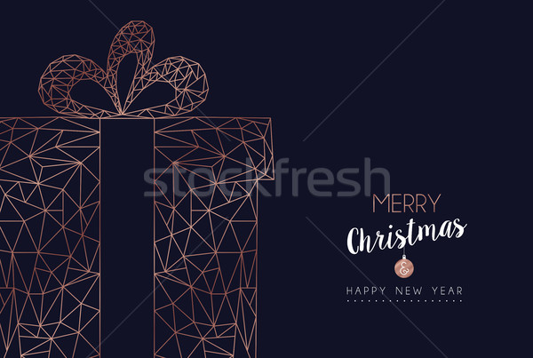 Stock fotó: Karácsony · új · év · absztrakt · ajándék · háló · szalag