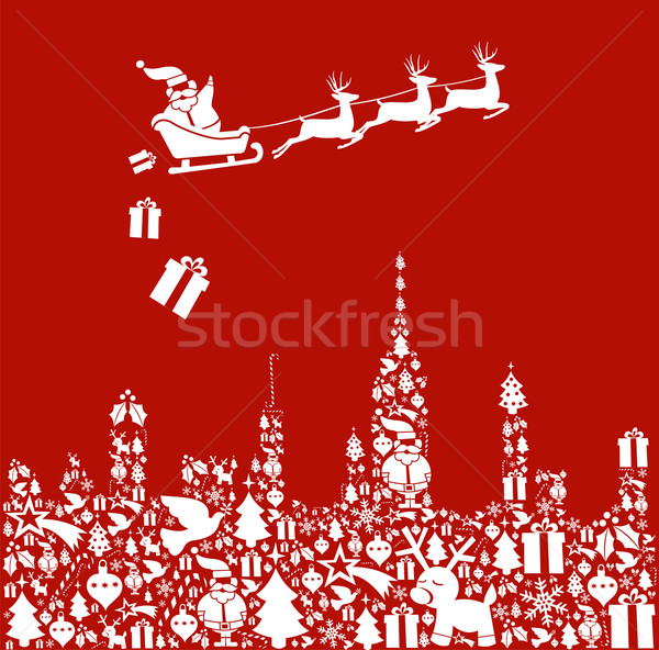 Foto stock: Natal · cidade · forma · presentes