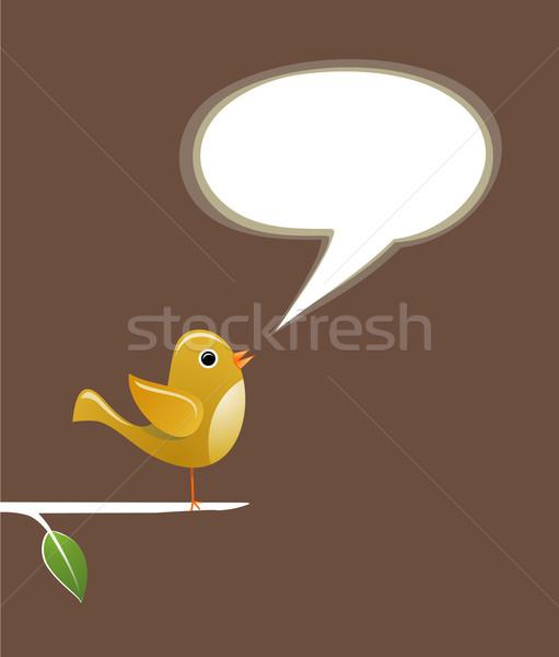 Pássaro discurso amor moderno comunicação Foto stock © cienpies