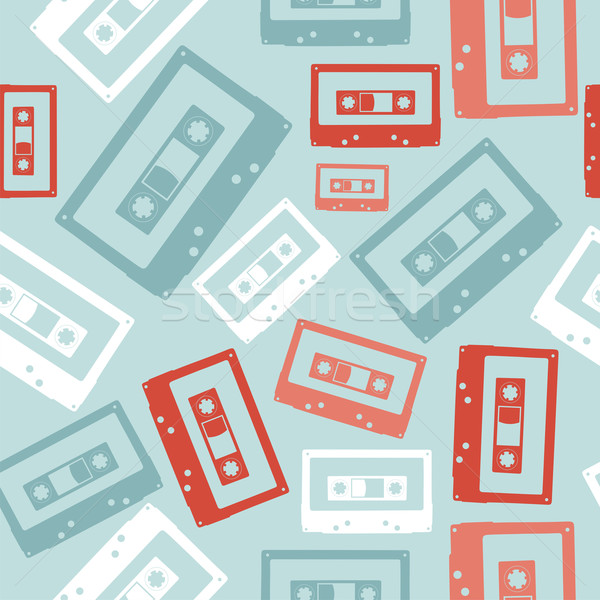Vintage audio tapes pattern Stock photo © cienpies