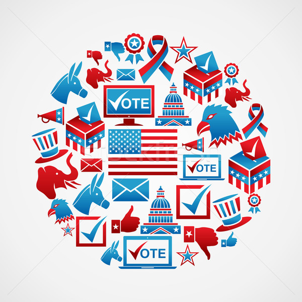 US elections icons circle Stock photo © cienpies