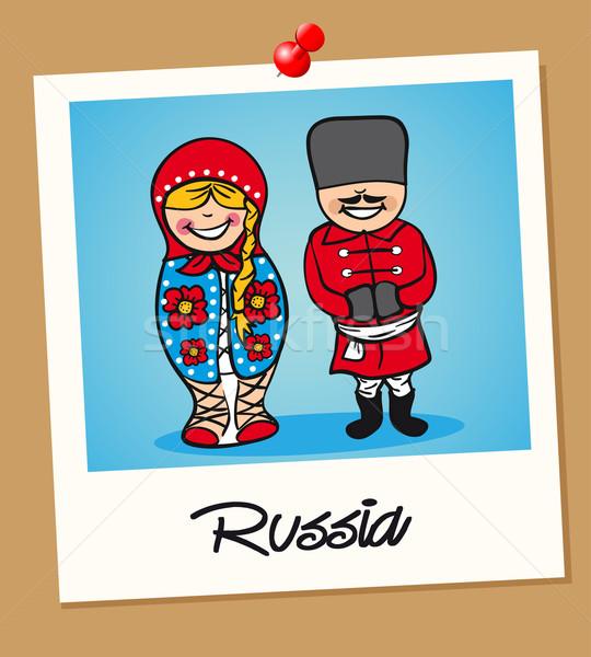 Россия путешествия Polaroid люди русский человека Сток-фото © cienpies