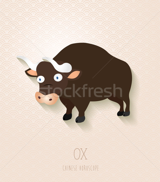 Chinese zodiac set Year of the Ox Stock photo © cienpies