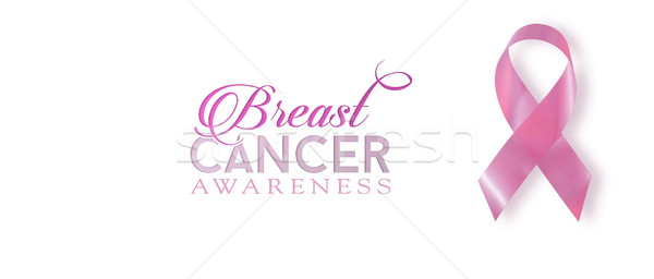 Breast cancer awareness ribbon banner background Stock photo © cienpies