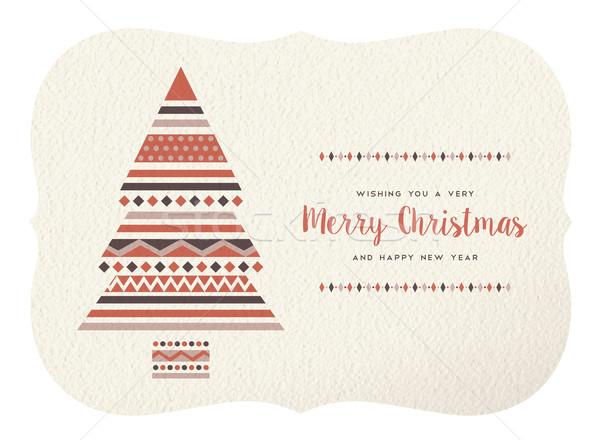 веселый Рождества с Новым годом геометрия дерево форма Сток-фото © cienpies