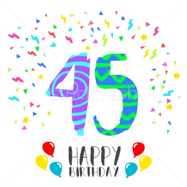 Сток-фото: С · Днем · Рождения · год · карт · числа