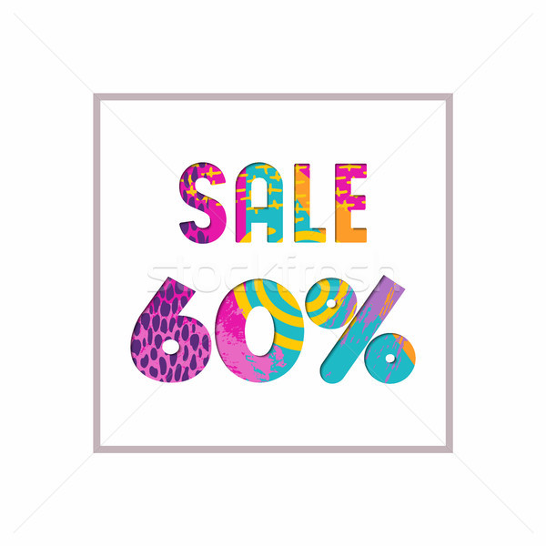 Sale 60% off color quote for business discount Stock photo © cienpies