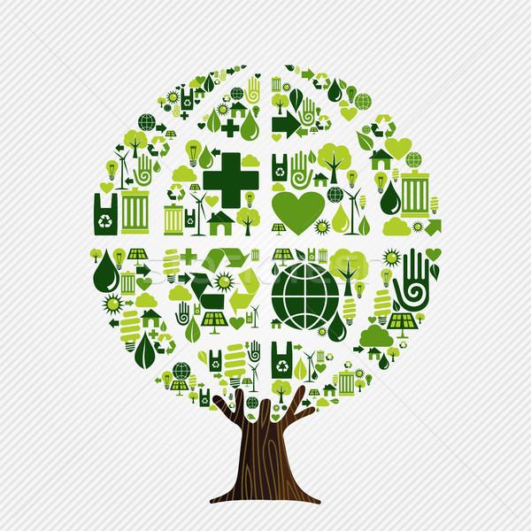 Foto stock: Verde · medio · ambiente · amistoso · árbol · iconos
