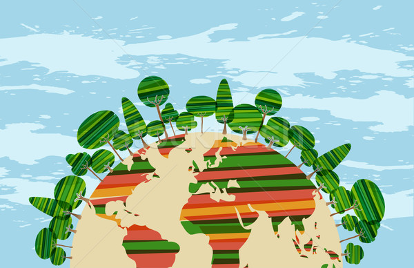 Colorfu green world Stock photo © cienpies