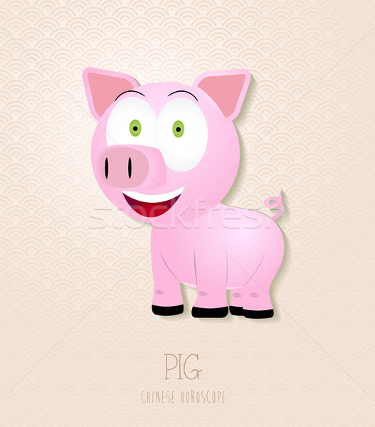 Chinese zodiac set Year of the Pig Stock photo © cienpies