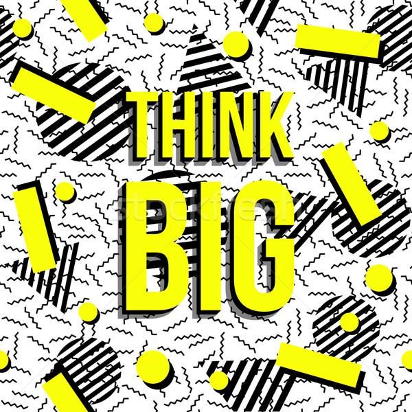 と思います ビッグ モチベーション 霊感 引用 パターン ストックフォト © cienpies
