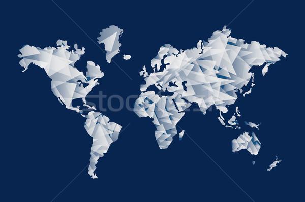 Triangle shape world map concept illustration Stock photo © cienpies