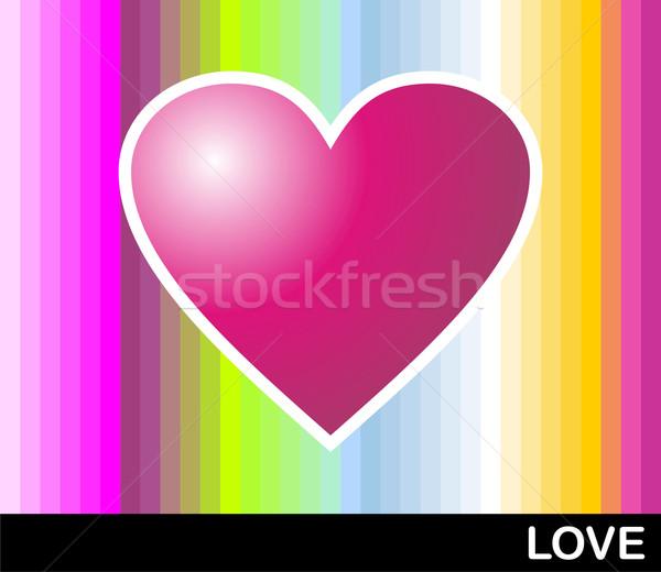 Loving pop heart Stock photo © cienpies