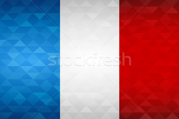 France country flag of french nation Stock photo © cienpies