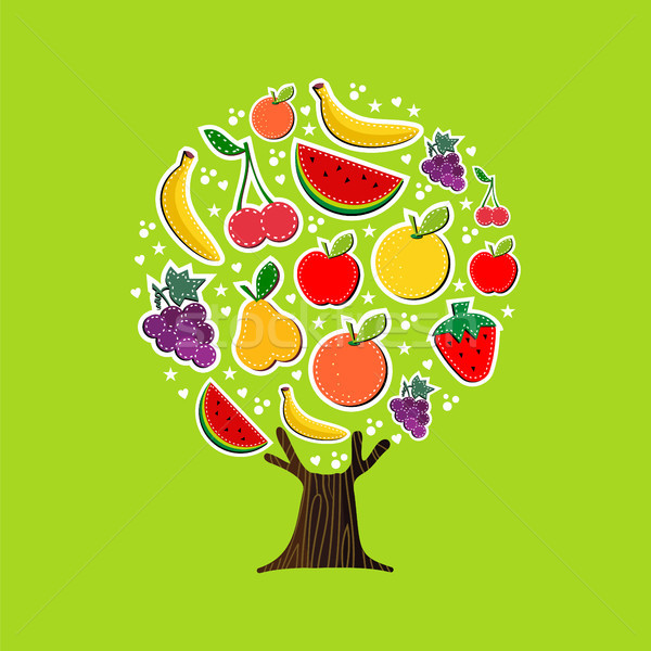 Summer fruit tree concept for healthy food diet Stock photo © cienpies