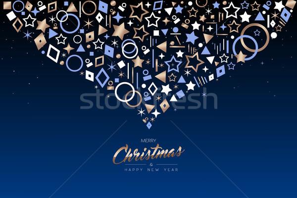 Zdjęcia stock: Christmas · nowy · rok · miedź · ikona · ozdoba · karty