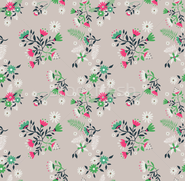 Vintage flower and leaves background pattern  Stock photo © cienpies