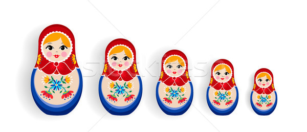 Set of russian nesting dolls or russia souvenir Stock photo © cienpies