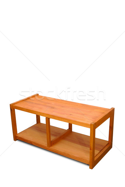 TV desk isolated over white Stock photo © cienpies