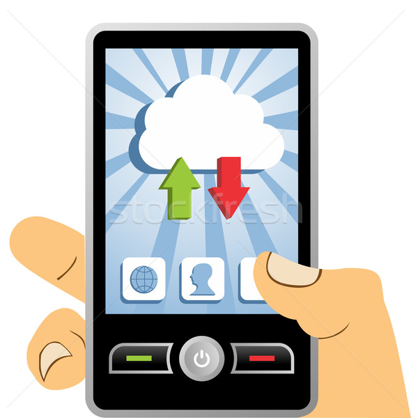 Cloud computing mobile device Stock photo © cienpies