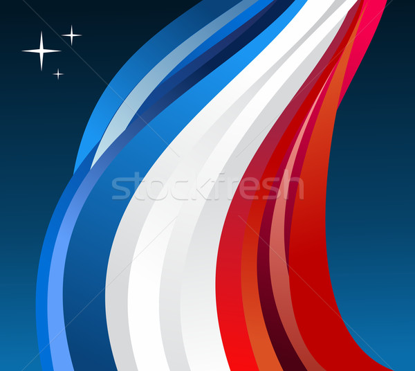 Stock photo: France flag illustration