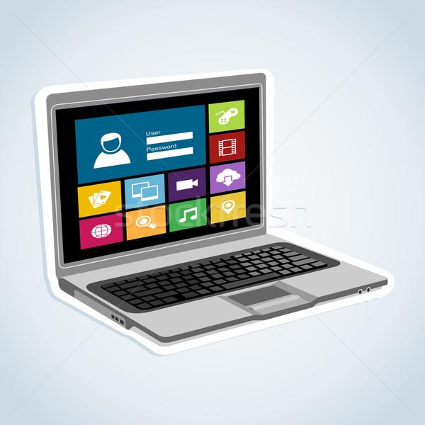 Computer internet applications Stock photo © cienpies