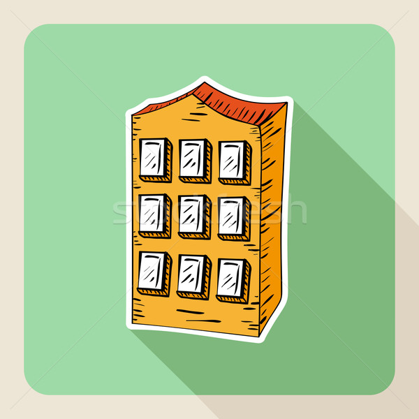 Hand drawn real estate residence house.  Stock photo © cienpies