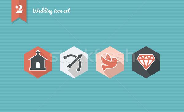свадьба веб приложение празднования планирования Сток-фото © cienpies
