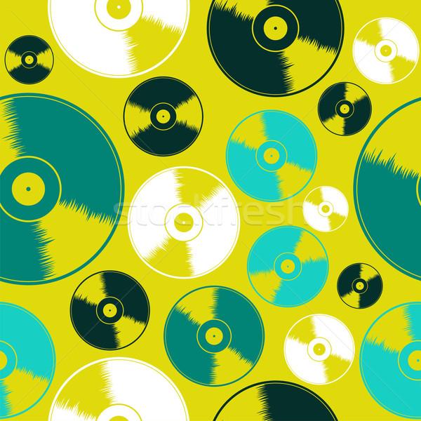 Stock fotó: Bakelit · lemez · végtelen · minta · sav · színek · lemezek