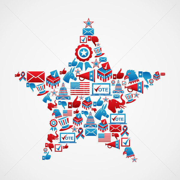 US elections icons star shape Stock photo © cienpies