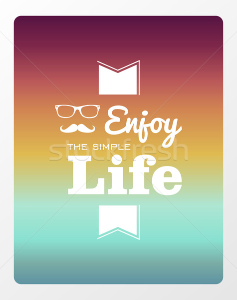 Vintage life style poster Stock photo © cienpies