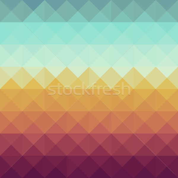 Vintage hipsters geometrisch patroon kleurrijk retro driehoek Stockfoto © cienpies