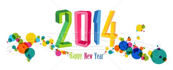 Buon anno 2014 banner vacanze contemporanea Foto d'archivio © cienpies
