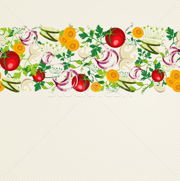 Healthy organic food pattern Stock photo © cienpies