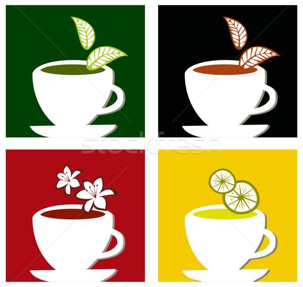 Colorido praça chá quatro diferente Foto stock © cienpies