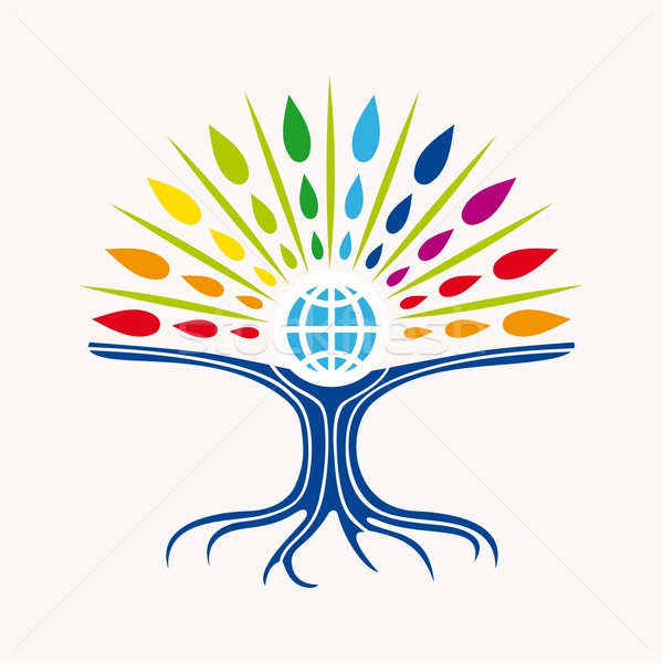 Community manager education world tree concept Stock photo © cienpies