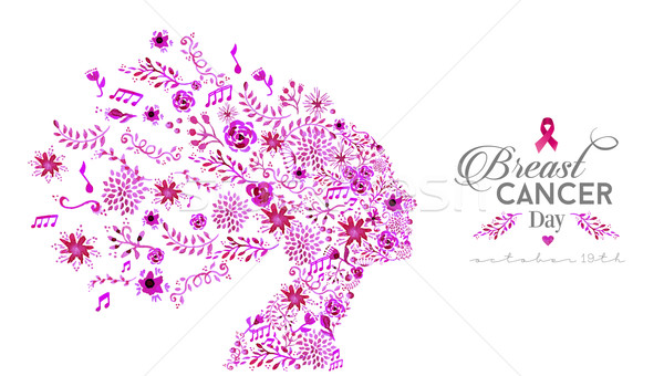 World breast cancer awareness day watercolor woman Stock photo © cienpies