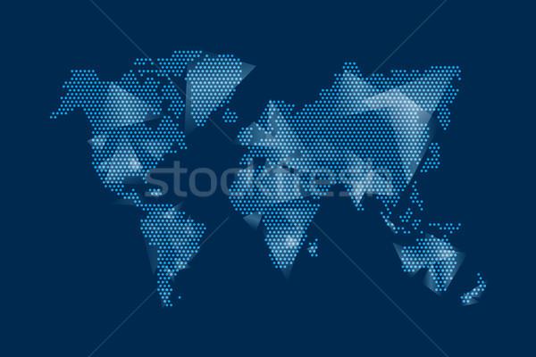 ストックフォト: 現代 · デジタル · 世界地図 · デザイン · 青 · 実例
