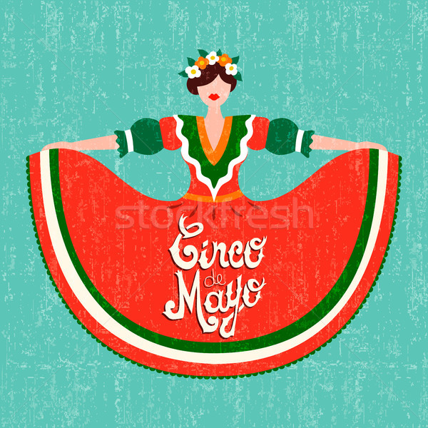幸せ パーティ カード メキシコ料理 少女 ストックフォト © cienpies