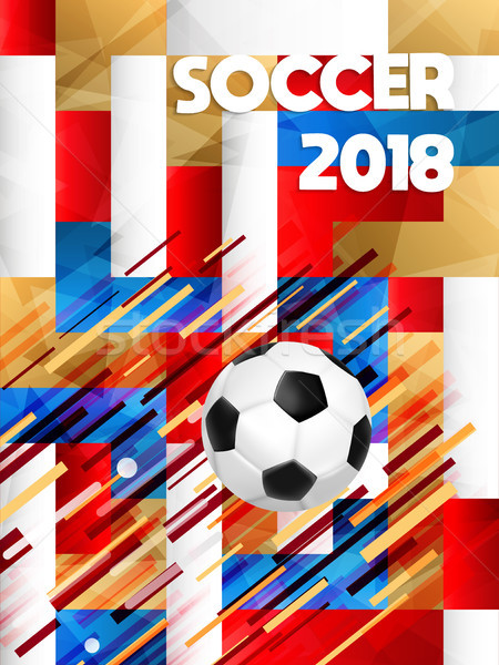 2018 soccer game event ball on color background Stock photo © cienpies