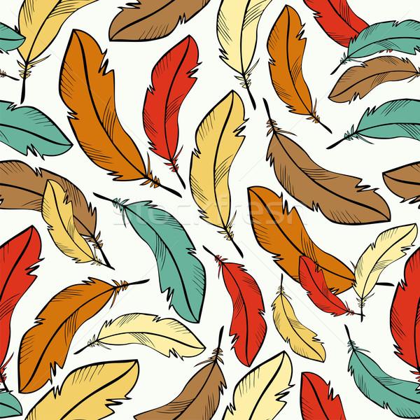 красочный Перу шаблон эскиз стиль Сток-фото © cienpies