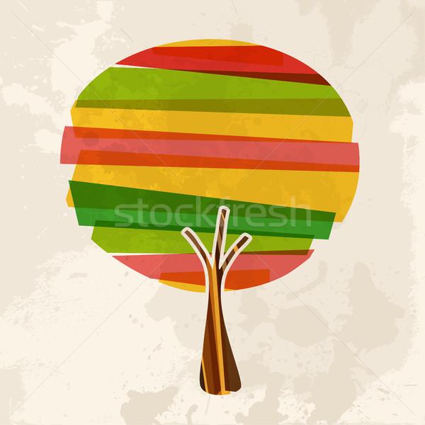 Multicolor single tree Stock photo © cienpies
