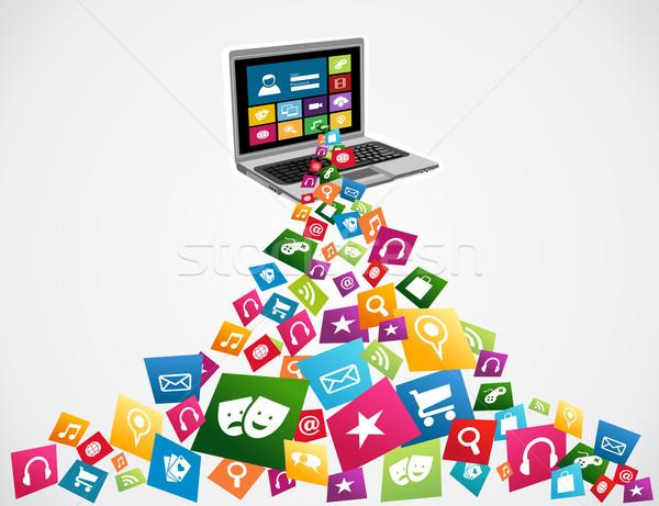 Online social media applications Stock photo © cienpies