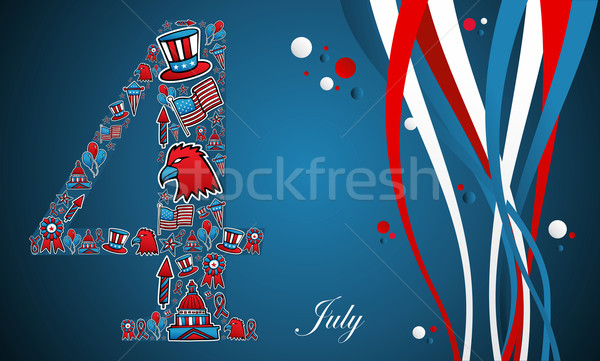Stock photo: 4th of july independence day