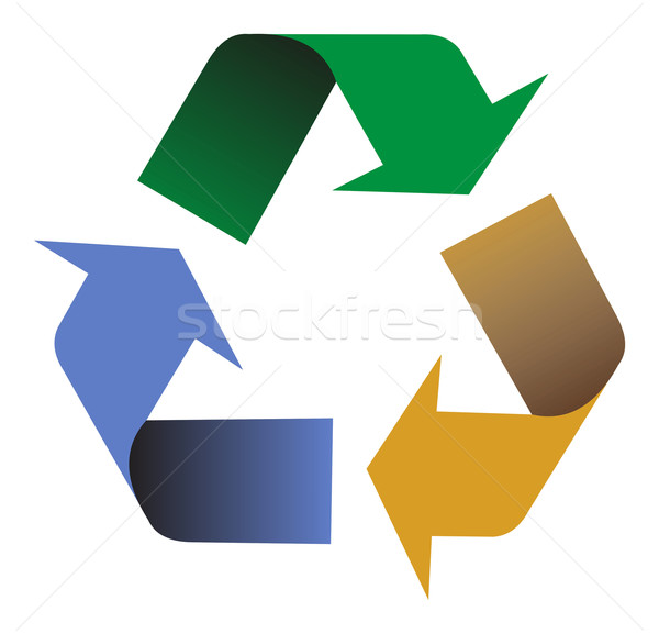 Recyclage couleurs illustration symbole vecteur Photo stock © cienpies