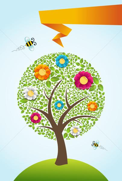 Сток-фото: аннотация · весны · время · дерево · цветы · вектора