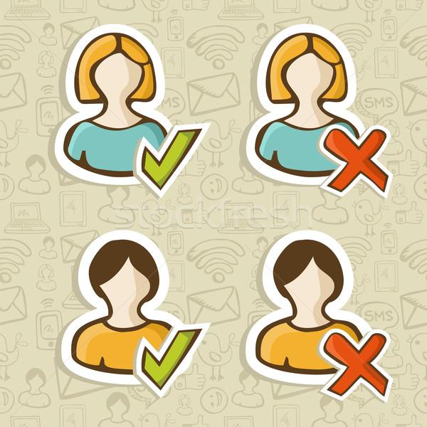 Social media user profile status Stock photo © cienpies