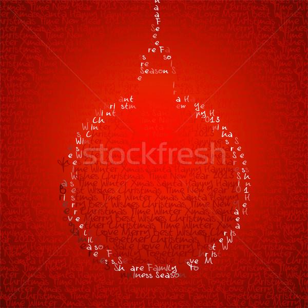 Noel önemsiz şey biçim yazmak sözler neşeli Stok fotoğraf © cienpies