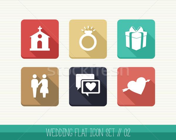 свадьба веб приложения празднования планирования Сток-фото © cienpies